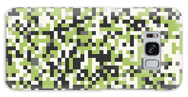 Green Pixel Art Galaxy Case by Mike Taylor