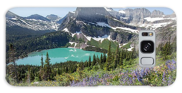Grinnell Lake Flowers Galaxy Case
