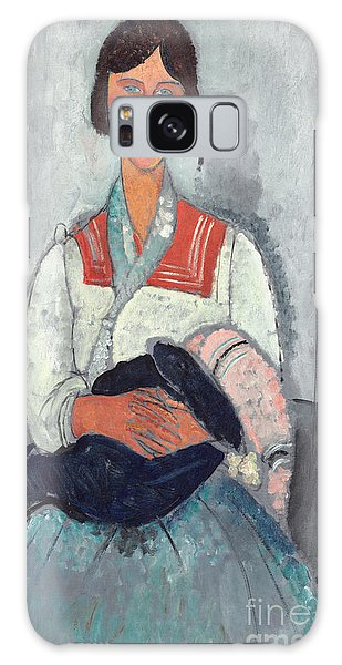 Gypsy Galaxy Case - Gypsy Woman With Baby by Amedeo Modigliani