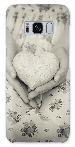 Hands Holding A Heart Galaxy Case