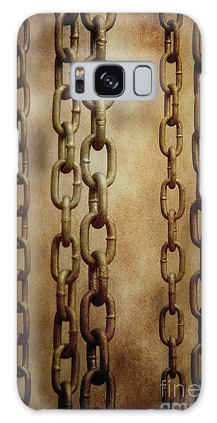 Rusty Chain Galaxy Case - Hanged Chains by Carlos Caetano