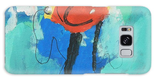 Happy Blue Fish Galaxy Case by Artists With Autism Inc