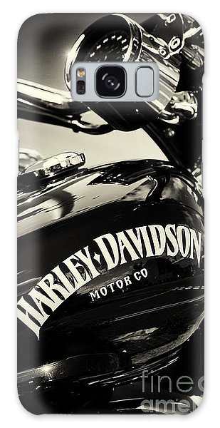 Harley D Sepia Galaxy Case by Tim Gainey