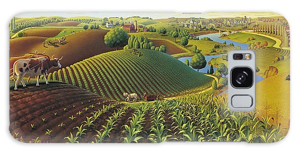 Rural Scenes Galaxy S8 Case - Harvest Panorama  by Robin Moline