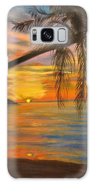 Hawaiian Sunset 11 Galaxy Case