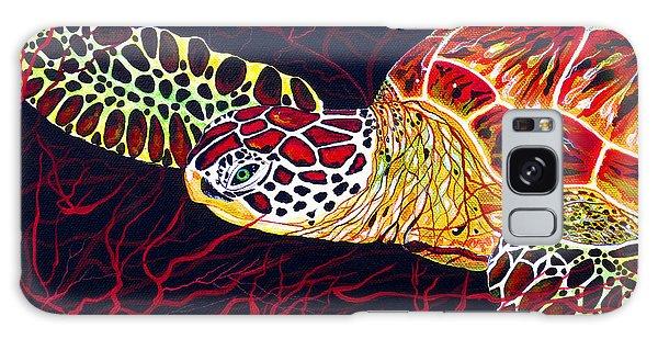 Hawksbill Turtle Galaxy Case by Debbie Chamberlin