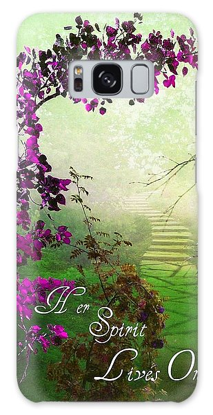 Her Spirit Lives On Galaxy Case by Shirley Sirois