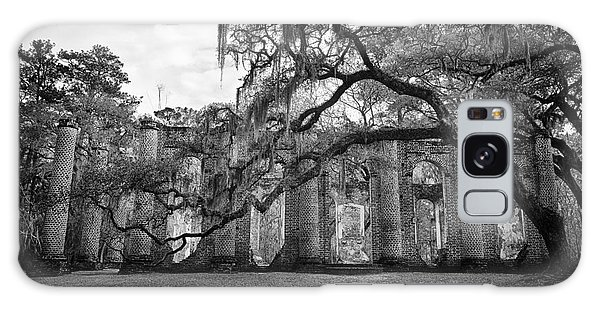 Historic Sheldon Church 4 Bw Galaxy Case by Carrie Cranwill
