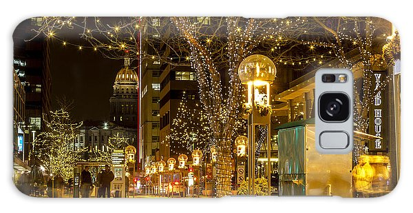 Holiday Lights In Denver Colorado Galaxy Case