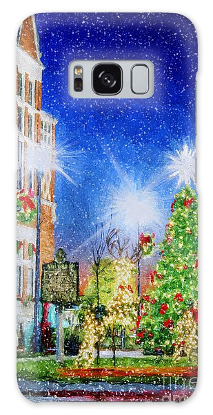 Home Town Christmas Galaxy Case by Darren Fisher