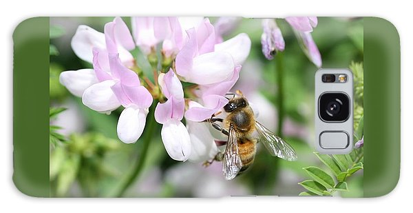 Honeybee On Crown Vetch Galaxy Case by Lucinda VanVleck