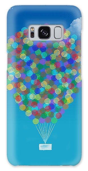 Hot Air Balloons Galaxy Case - Hot Air Balloon by Aged Pixel