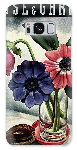 Vase Of Flowers Galaxy Case - House And Garden Cover by Edna Reindel