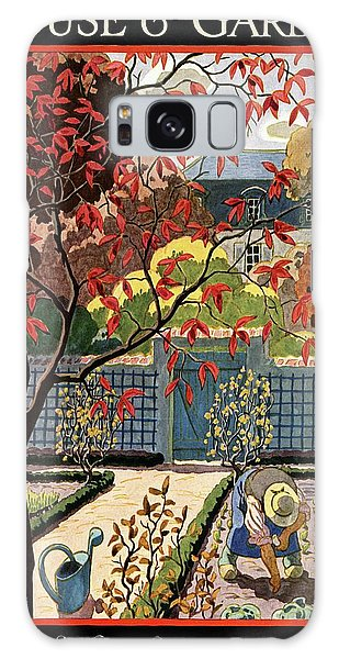 House And Garden Fall Planting Number Cover Galaxy Case