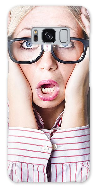 Behaviour Galaxy Case - Hysterical Business Woman Having Panic Attack by Jorgo Photography - Wall Art Gallery