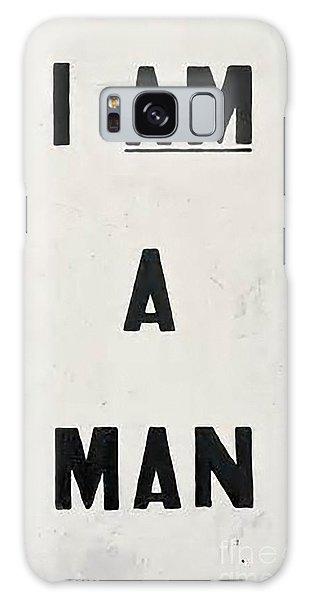 Men Galaxy Case - I Am A Man by Baltzgar