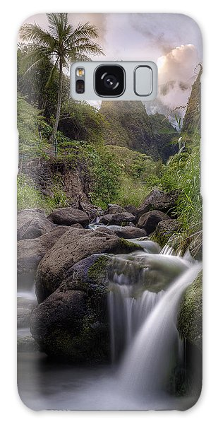 Iao Needle Sunset Galaxy Case by Hawaii  Fine Art Photography