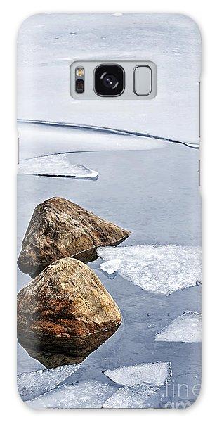 Ice Galaxy Case - Icy Shore In Winter by Elena Elisseeva