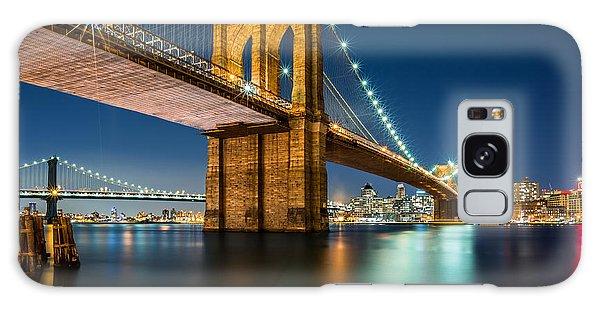 Illuminated Brooklyn Bridge By Night Galaxy Case