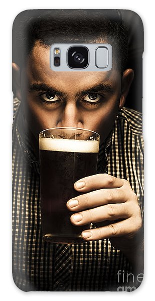 Cold Day Galaxy Case - Irish Man Drinking Beer On St Patricks Day by Jorgo Photography - Wall Art Gallery