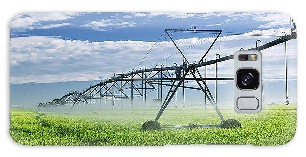 Rural Scenes Galaxy S8 Case - Irrigation Equipment On Farm Field by Elena Elisseeva