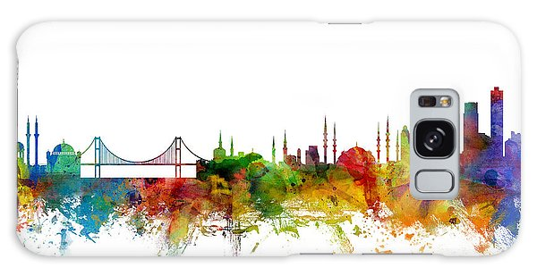 Istanbul Turkey Skyline Galaxy Case by Michael Tompsett