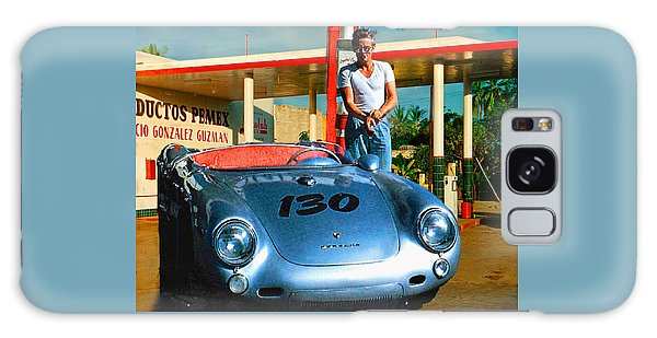 James Dean Filling His Spyder With Gas Galaxy Case