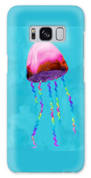 Galaxy Case featuring the painting Jelly The Fish by Deborah Boyd