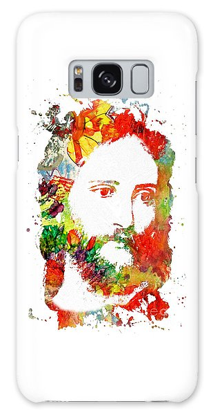 Jesus Christ - Watercolor Galaxy Case by Doc Braham