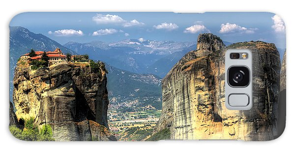 Kalambaka Beneath The Meteora Of Greece Galaxy Case
