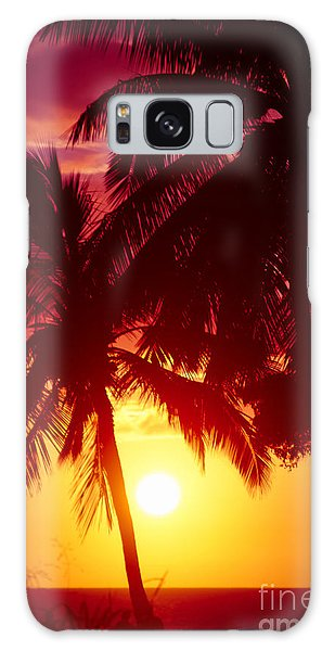Galaxy Case featuring the photograph Kamaole Nights by Sharon Mau