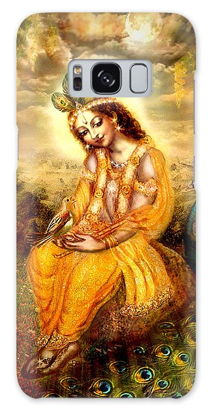 Krishna With The Peacock Galaxy Case by Ananda Vdovic
