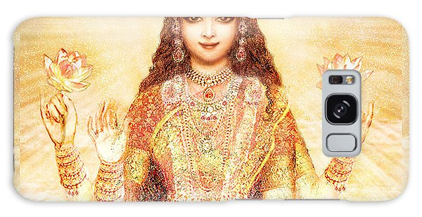 Lakshmi The Goddess Of Fortune And Abundance Galaxy Case by Ananda Vdovic