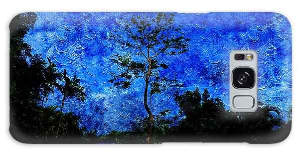 Landscapes In Blue Sky Galaxy Case