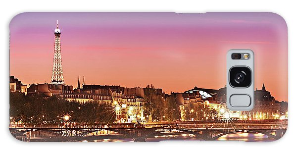 Left Bank At Night / Paris Galaxy Case