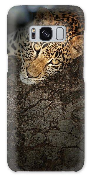 Close Up Galaxy Case - Leopard Portrait by Johan Swanepoel
