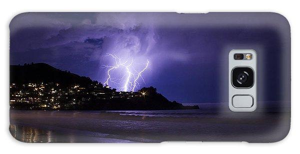 Lightning Over The Ocean Galaxy Case