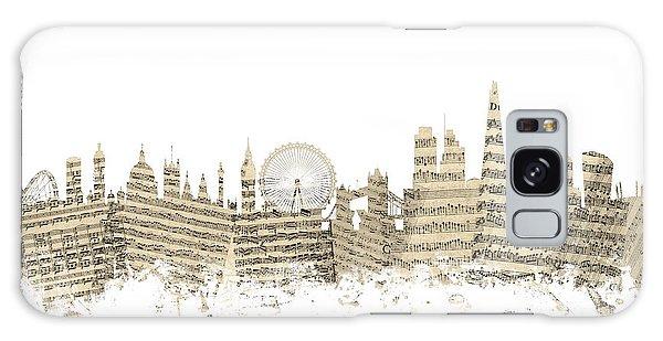 London England Skyline Sheet Music Cityscape Galaxy Case by Michael Tompsett