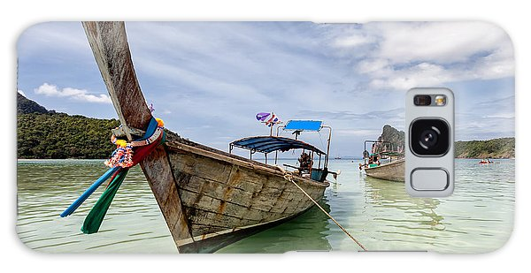 Phi Phi Island Galaxy Case - Longboats On Phi Phi Island Thailand by Frank Bach