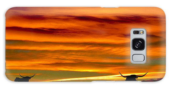 Longhorn Sunset Galaxy Case