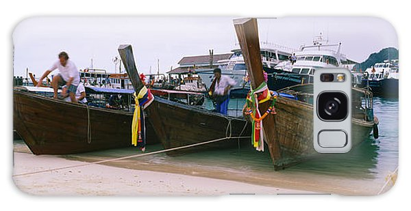 Phi Phi Island Galaxy Case - Longtail Boats Moored On The Beach, Ton by Panoramic Images