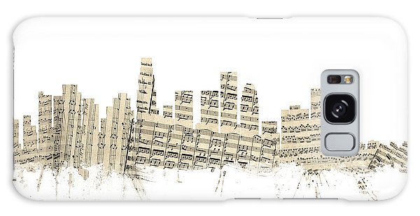 Los Angeles California Skyline Sheet Music Cityscape Galaxy Case