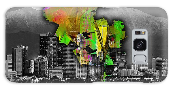 Los Angeles Map And Skyline Watercolor Galaxy Case