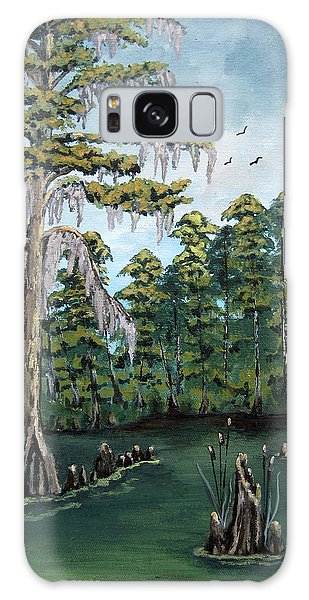 Louisiana Cypress Galaxy Case by Suzanne Theis