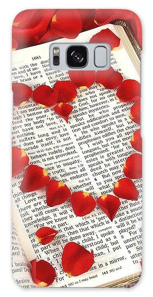Love Scripture Galaxy Case by Pattie Calfy