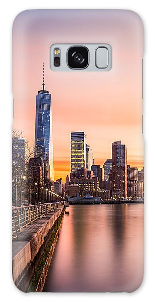 Lower Manhattan At Sunset Galaxy Case