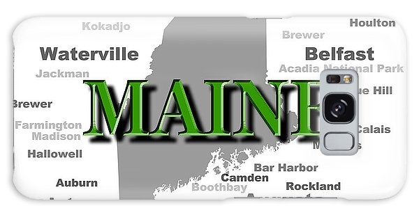Houlton Galaxy Case - Maine State Pride Map Silhouette  by Keith Webber Jr