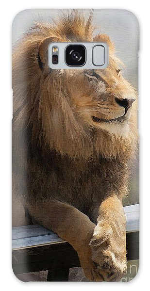 Lion Galaxy Case - Majestic Lion by Sharon Foster