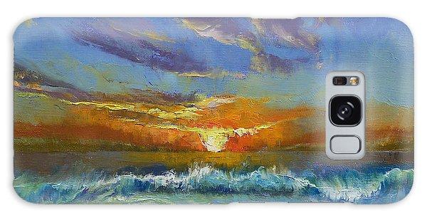 Beach Sunset Galaxy Case - Malibu Beach Sunset by Michael Creese