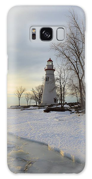 Marblehead Lighthouse Winter Sunrise Galaxy Case